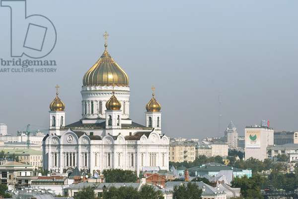 Cathedral Of Christ The Saviour In Moscow : Cathedral of Christ the Saviour in Moscow, Russia, 02/09/08 ©ITAR-TASS/UIG/Leemage