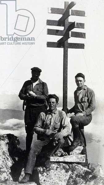 survey at Kruzof Island; Alaska; USA 1928