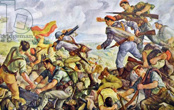 Battle of San Marcial part of the Battle of Irún was a critical battle of the Campaign of Gipuzkoa prior to the War in the North, during the Spanish Civil War.