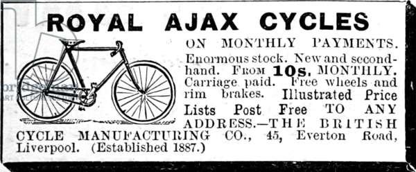Advert for Royal Ajax Bycicles