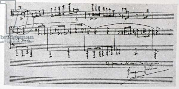 Sheet music by Joaquin Turina