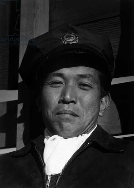 Mitsuo Matsuro, fireman, Manzanar Relocation Center, California, 1943 (photo)