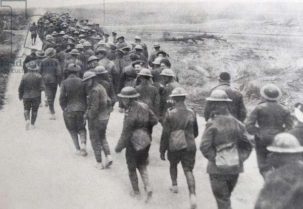 British prisoners of war captured by German forces, during World war One 1915