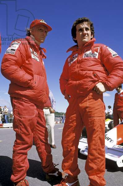 Niki Lauda and Alain Prost, 1980 (photo)
