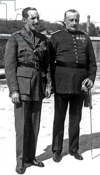 Alfonso XIII, King of Spain, and general Primo de Rivera