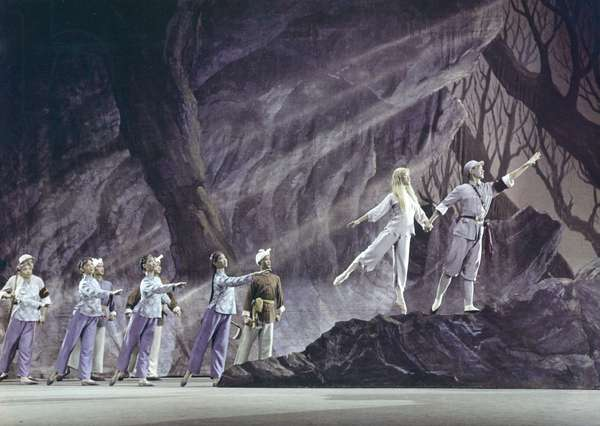 Scene from Chinese revolutionary ballet 'The White Haired Girl'. People's Republic of China. 1966