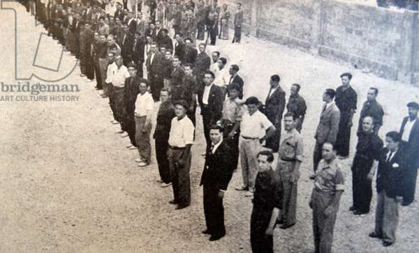 Falangist prisoners during the Spanish Civil War