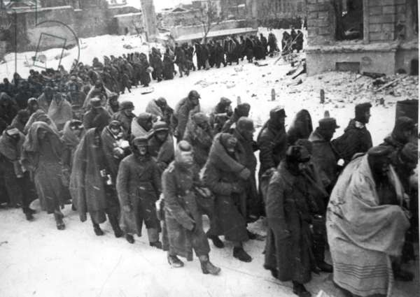 German Prisoners of War Captured During the Battle of Stalingrad, 1942 or 1943.