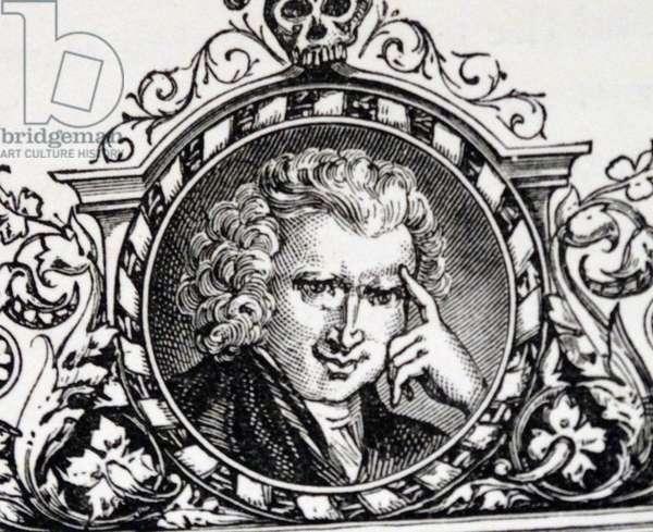 Engraved portrait of Laurence Sterne