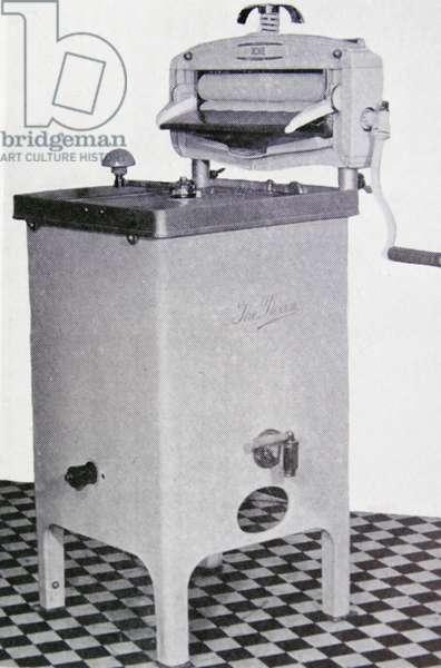 Gas-heated washing machine