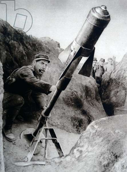 A French artillery position, 1916
