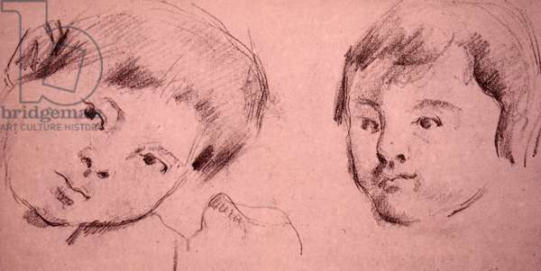 Study of the Artist's son by Paul Cezanne, 1850