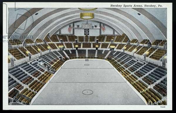 Hershey Sports Arena, Hershey, Pennsylvania, c.1937 (colour litho)