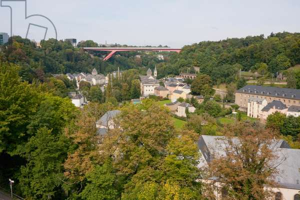Panoramic View of Pfaffenthal from the Bock Casemates, Luxembourg (photo)