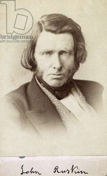 John Ruskin 1819-1900. Author photographed between 1863 and 1870