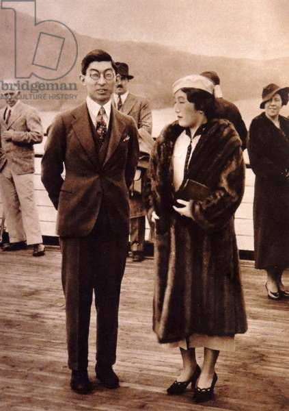 Prince Chichibu and his wife attending the coronation of King George VI in London