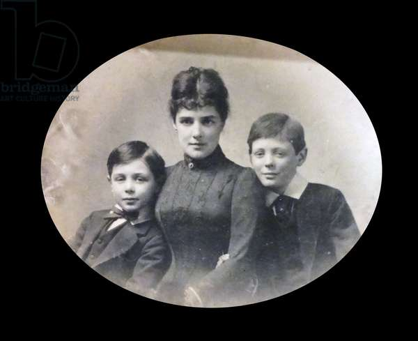 Winston Churchill with his mother and brother