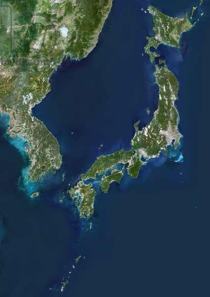Korea And Japan, True Colour Satellite Image