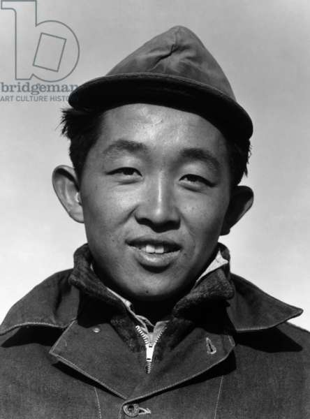 Richard Kobayashi, farmer, Manzanar Relocation Center, California, 1943 (photo)
