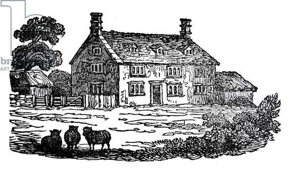 Woolsthorpe Mnor, near Grantham, Lincolnshire, the house in which Isaac Newton was born.