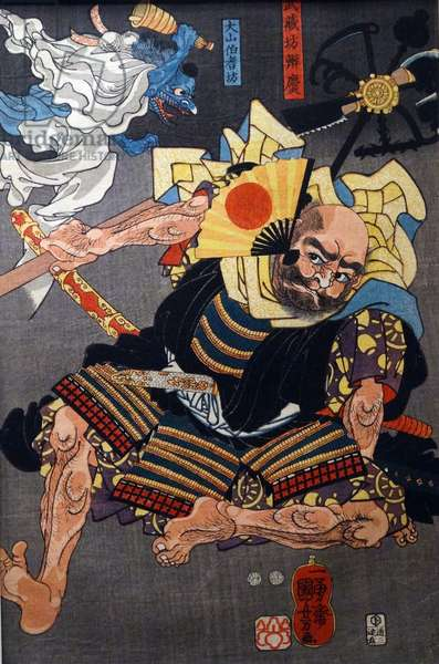 The Eight Great Tengu subduing Benkei
