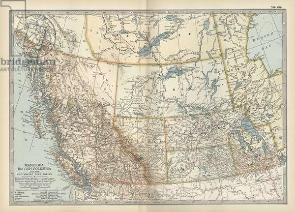 Map of Manitoba and British Columbia