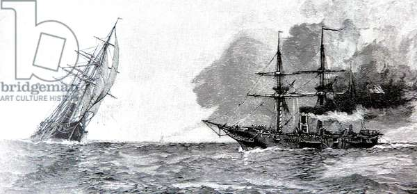 American Civil War-Sinking of the CSS Alabama 1864