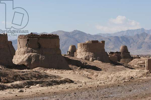 Brick Kilns in the Outskirts of Kabul, Afghanistan (photo)