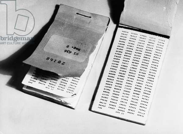 Penkovsky-Wynne Spy Trial, May 1963, Code Books Received by Penkovsky for Deciphering Instructions from the British and American Intelligence Services and Sending Coded Messages Back.