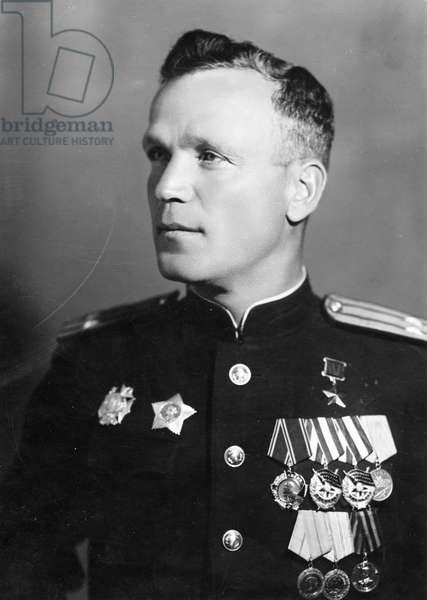 Hero of the Soviet Union, Lieutenant Colonel Fyodor Kotanov of the Red Navy.