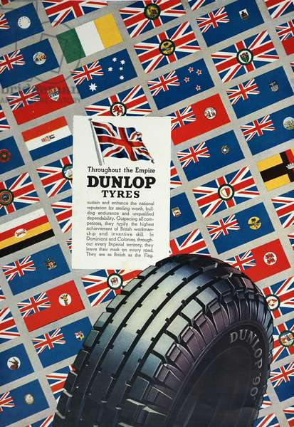 Advert for Dunlop Tyres, 1950