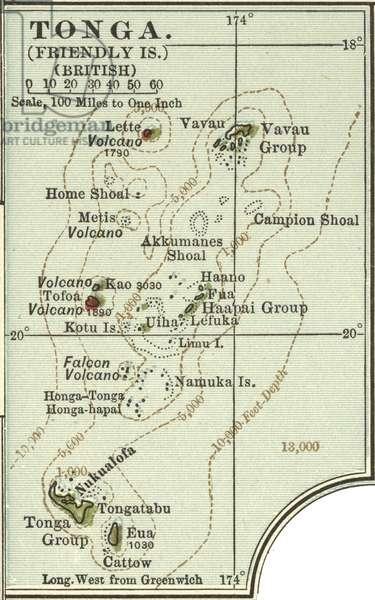 Map of Tonga