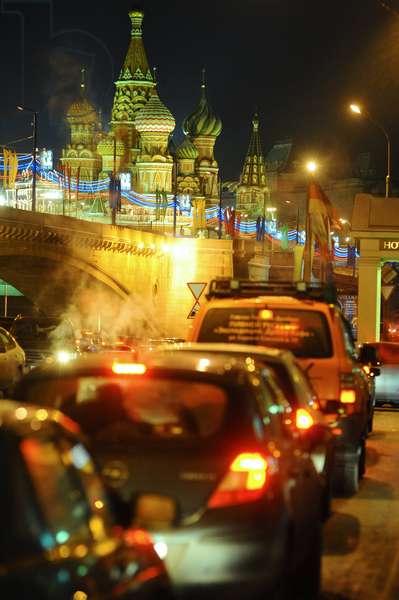 Traffic Jams On Balchug Street In Moscow : Traffic jams on Balchug Street in Moscow, Russia, 12/01/14 ©ITAR-TASS/UIG/Leemage