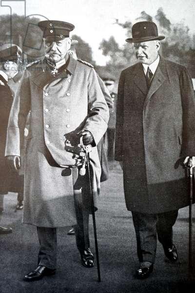 Paul Von Hindenburg and Theodor Lewald