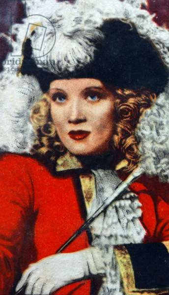 Marlene Dietrich, a German-American actress and singer