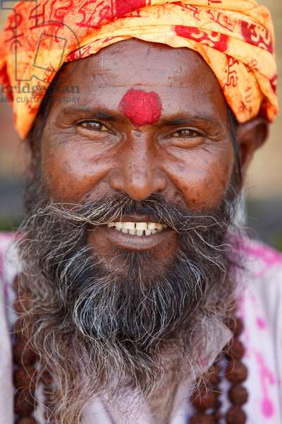 Smiling Hindu (photo)