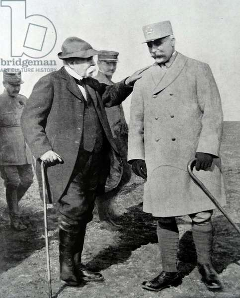 French Prime minister Clemenceau and Marshall Petain, 1917