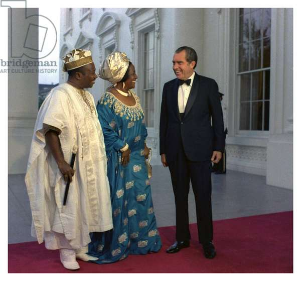 US President Richard Nixon greets President of Liberia William R Tolbert