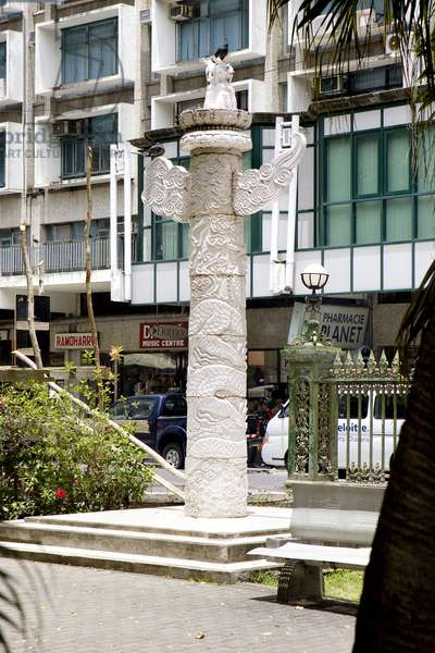 Totem Pole Statue, Port Louis, Mauritius (photo)