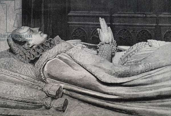 The effigy of Mary, Queen of Scots.