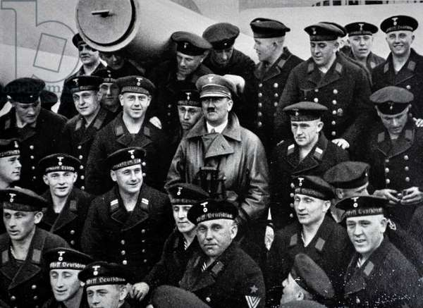 Hitler with navy sailors 1935.