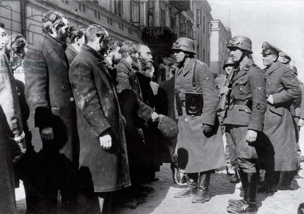Questions without Answers - Nazi Interrogation (b/w photo)