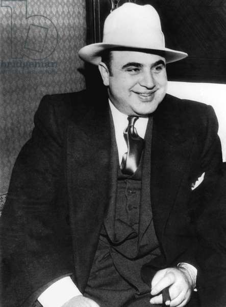 American Gangster Al Capone (b/w photo)