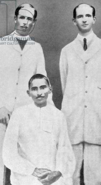 Gandhi with Charles Andrews (left