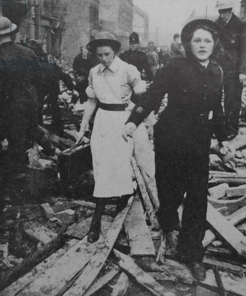 World war two nurse and air raid warden in London during the blitz 1942