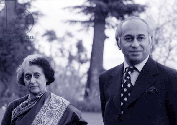 Zulfikar Ali Bhutto and Indira Gandhi meet, 1972