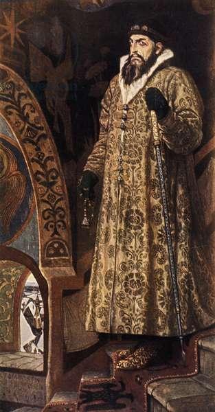 Portrait of Ivan Grozny (Ivan the Terrible, Ivan Iv) by Viktor M, Vasnetsov (1848 - 1926).
