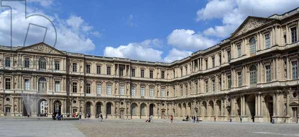 Façade of the Louvre museum, Paris, 1800