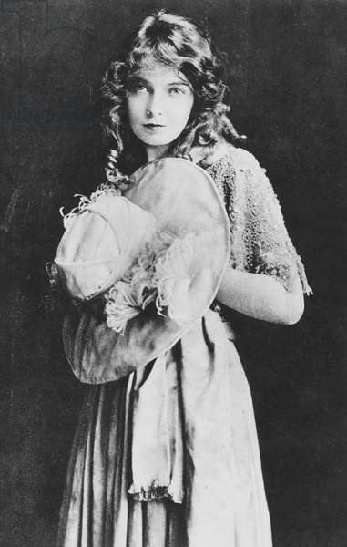 Lillian Gish (1896-1993) American stage, silent and talkie actress. Still from the film The Wedding, 1912. Photograph