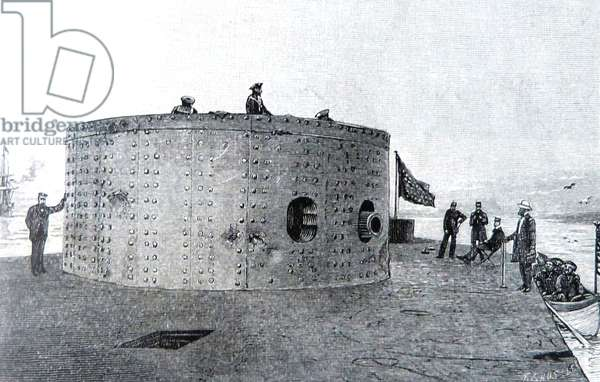 American Civil war-1861 1865 USS Monitor, designed by the Swedish-born engineer and inventor John Ericsson, was the first ironclad warship commissioned by the United States Navy during the American Civil War